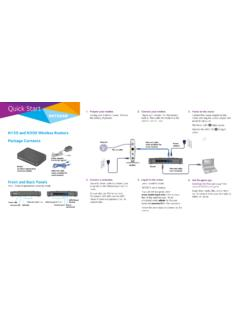 N150 and N300 Wireless Routers Quick Start Guide - Netgear