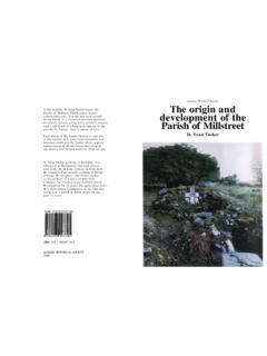 The origin and development of the Parish of Millstreet by ...