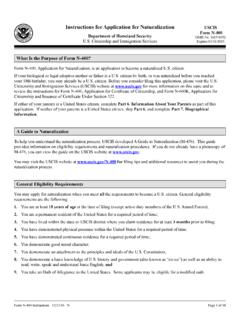 Instructions for Application for Naturalization USCIS