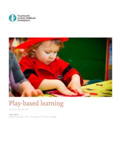 Play-based learning - Encyclopedia on Early Childhood ...