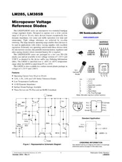 LM285 - Micropower Voltage Reference Diodes