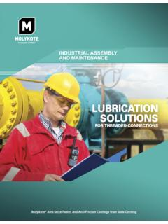 Lubrication Solutions for Threaded Connections - Ellsworth