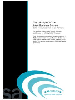 The Principles of the LBS V1 - S A Partners