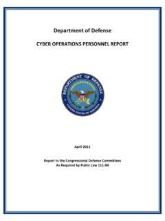 Department of Defense - National Security Cyberspace Institute