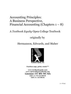 Accounting Principles:A Business …