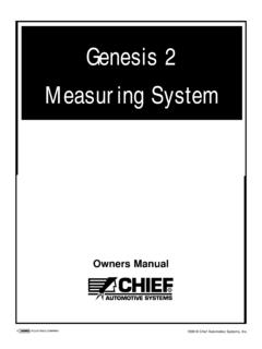 Genesis 2 Measuring System - Chief Automotive