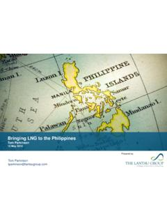 Bringing LNG to the Philippines - A leading economic ...