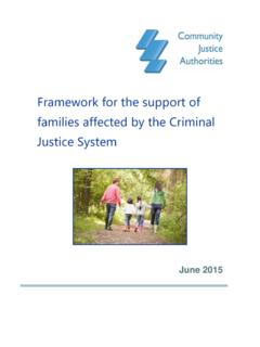 Framework for the support of families affected by the ...