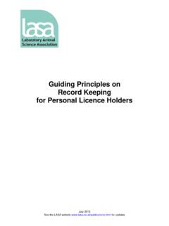 Guiding Principles on Record Keeping for Personal Licence ...