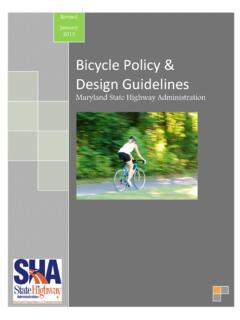 Bicycle Policy Design Guidelines