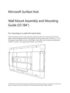 Microsoft Surface Hub Wall Mount Assembly and Mounting ...