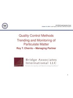 Quality Control Methods Trending and Monitoring of ...