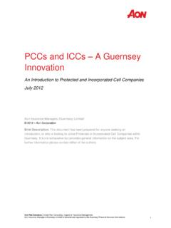 PCCs and ICCs A Guernsey Innovation - Health | Aon