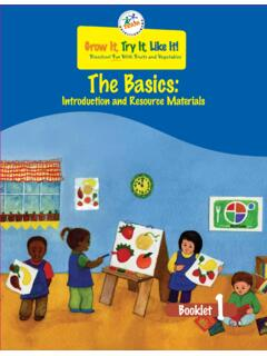 Preschool Fun With Fruits and Vegetables The Basics