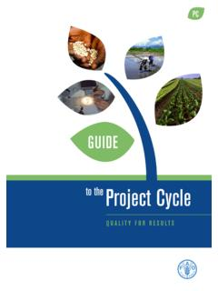 Guide to the Project Cycle - Quality for results