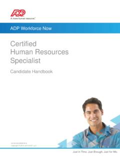 Certified Human Resources Specialist - ADP