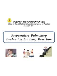 Preoperative Pulmonary Evaluation for Lung Resection