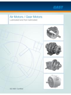 Air Motors / Gear Motors - Gast