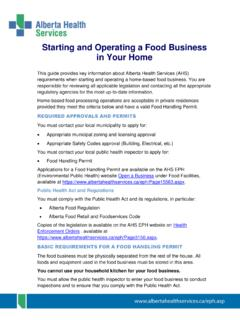 Starting and Operating a Food Business in Your Home