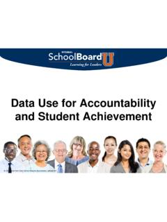Data Use for Accountability and Student Achievement