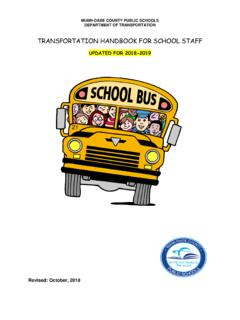 TRANSPORTATION HANDBOOK FOR SCHOOL STAFF