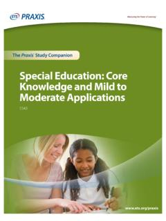 Special Education: Core Knowledge and Mild to …