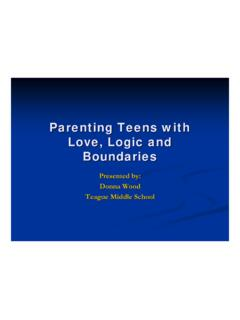 Parenting Teens with Love, Logic and Boundaries