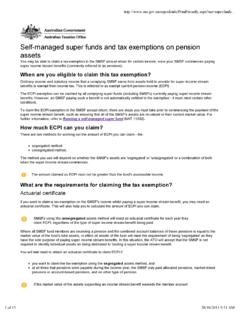 Self-managed super funds and tax exemptions on pension …