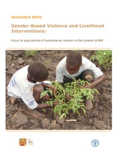 Gender-Based Violence and Livelihood Interventions