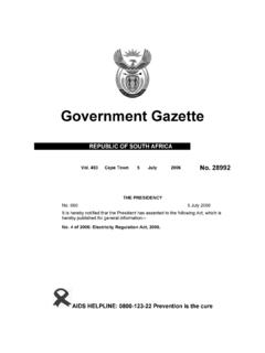 Electricity Regulation Act [No. 4 of 2006]
