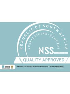 South African Statistical Quality Assessment Framework ...