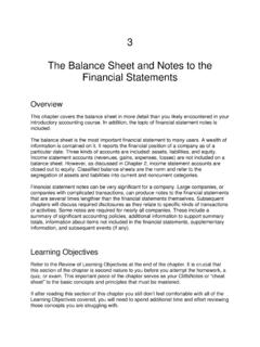 3 The Balance Sheet and Notes to the Financial Statements