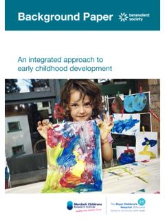 An integrated approach to early childhood development
