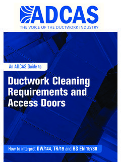An ADCAS Guide to Ductwork Cleaning Requirements and ...