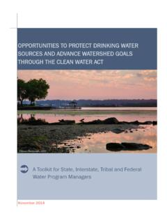 OPPORTUNITIES TO PROTECT DRINKING WATER SOURCES …