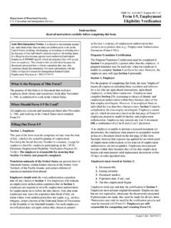 Form I-9, Employment U.S. Citizenship and …