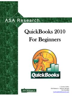 QuickBooks 2010 For Beginners - ASA Research