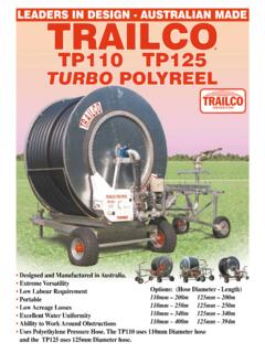 TP110 TP125 TURBO POLYREEL - Trailco