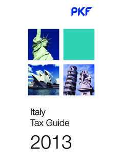 Italy Tax Guide 2013 - PKF International