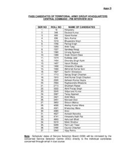 Appx D PASS CANDIDATES OF TERRITORIAL ARMY GROUP ...