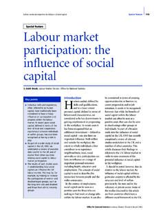 Labour market participation: the influence of …
