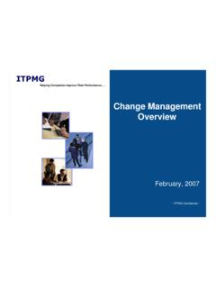 Change Management- Overview - ITPMG