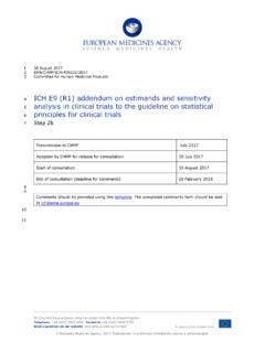 ICH E9 (R1) addendum on estimands and sensitivity analysis ...