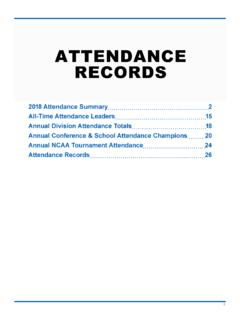 ATTENDANCE RECORDS - fs.ncaa.org