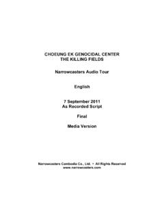 7Sept11 CECG NC Audio Tour Script English As Recorded …