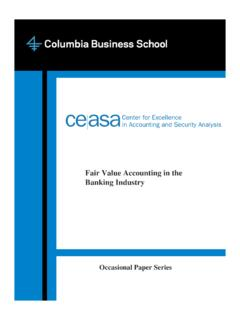 Fair Value Accounting in the Banking Industry