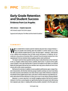 Early Grade Retention and Student Success