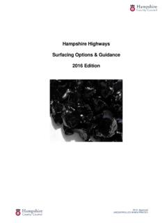 Guidance Document on Surfacing Options - Hampshire