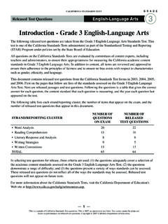 Introduction - Grade 3 English-Language Arts