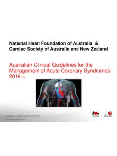 Australian Clinical Guidelines for the Management of …